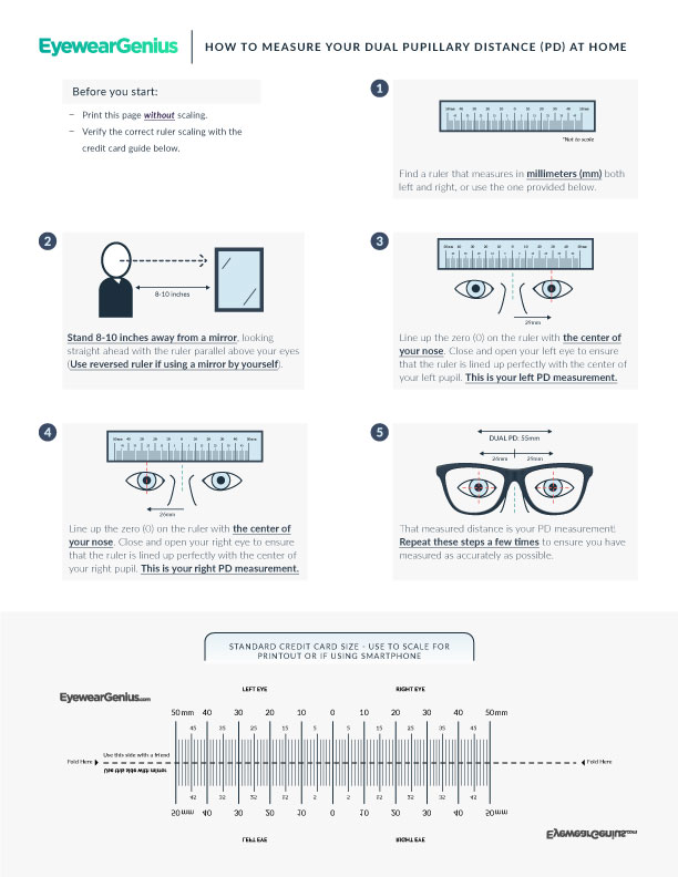 5 Ways To Measure Your Pupillary Distance Pd At Home Eyewear Genius